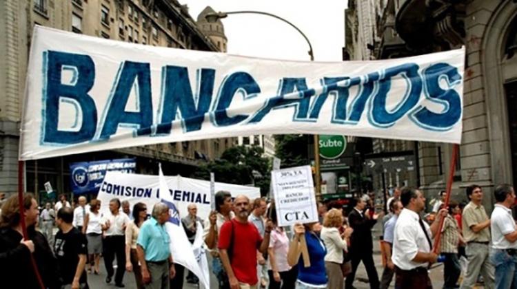 Bancarios al paro