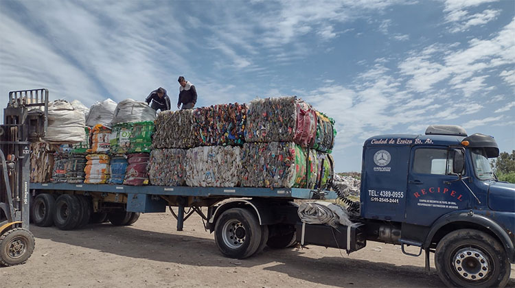 Nueva carga de reciclables