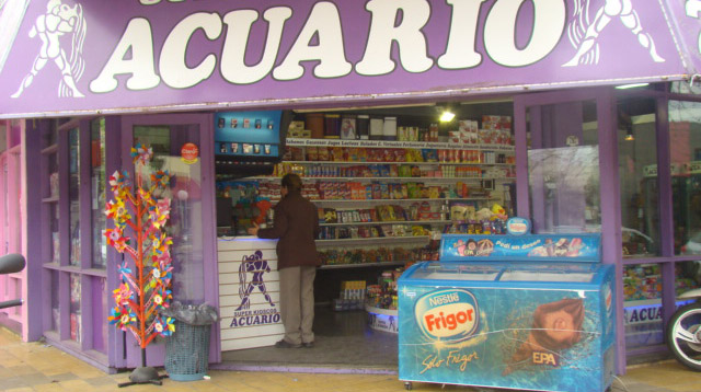 Robaron en el kiosco Acuario