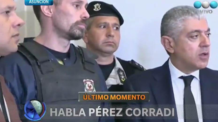 Habló Pérez Corradi