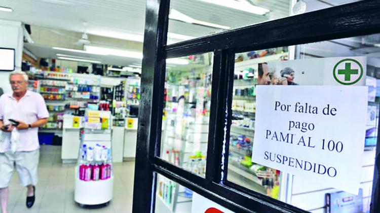 Farmacias bonaerenses no atienden PAMI