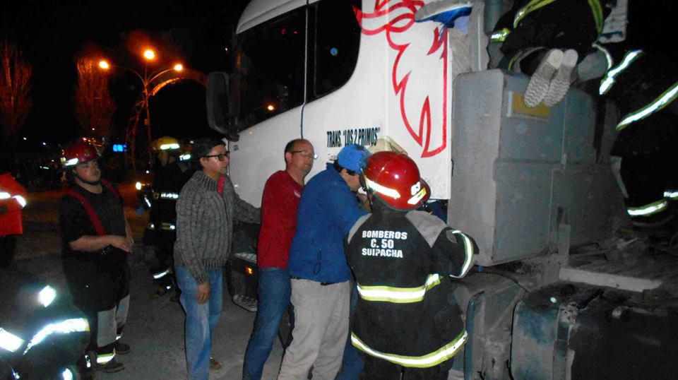 Un camionero nuevejuliense sufrió accidente en Suipacha