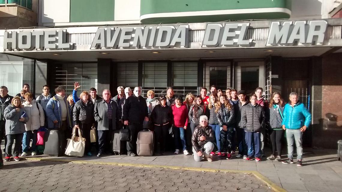 La delegación local ya está en Mardel
