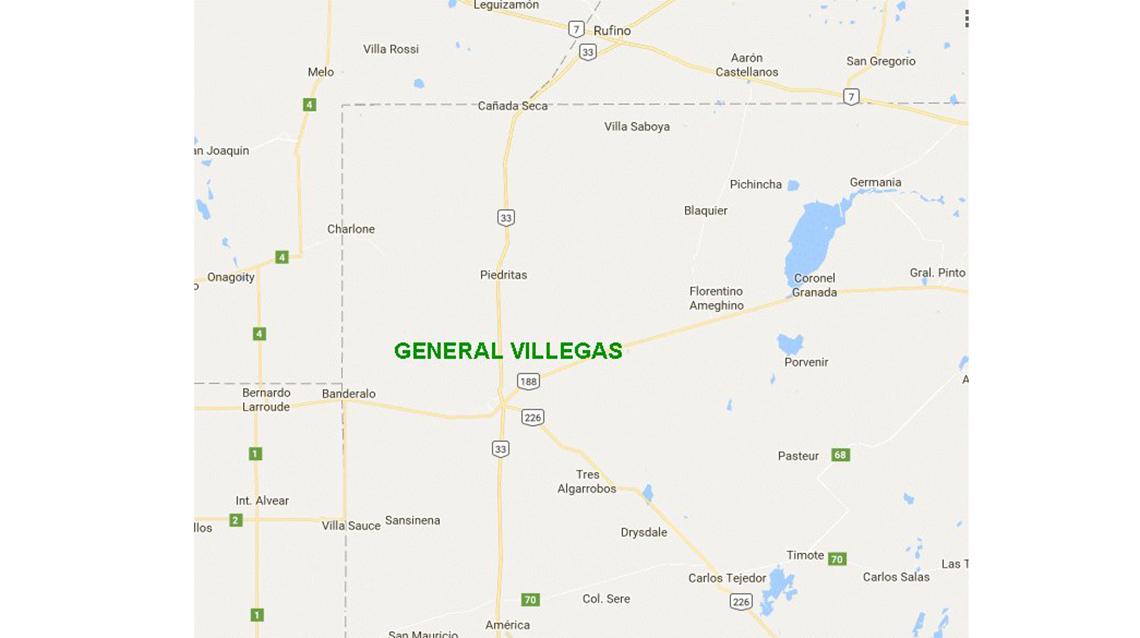 Gral Villegas: estado de las Rutas