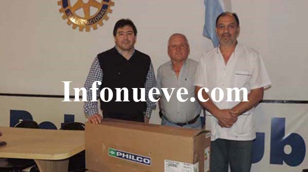 Rotarios donaron aire al hospital