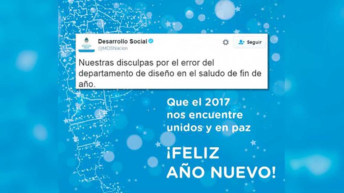 """Desarrollo Social excluyó """"por error de diseño"""" a Malvinas del mapa argentino"""