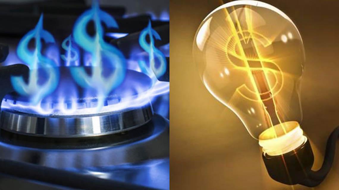 Por los aumentos de luz y gas