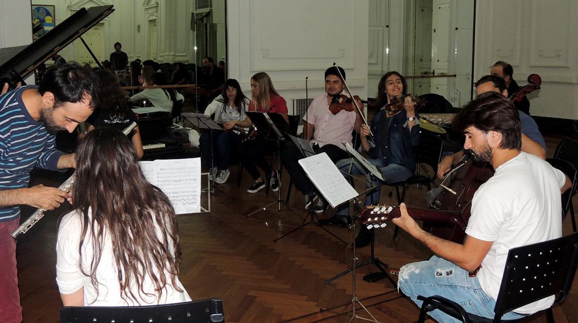 La Orquesta Escuela comenzó sus ensayos