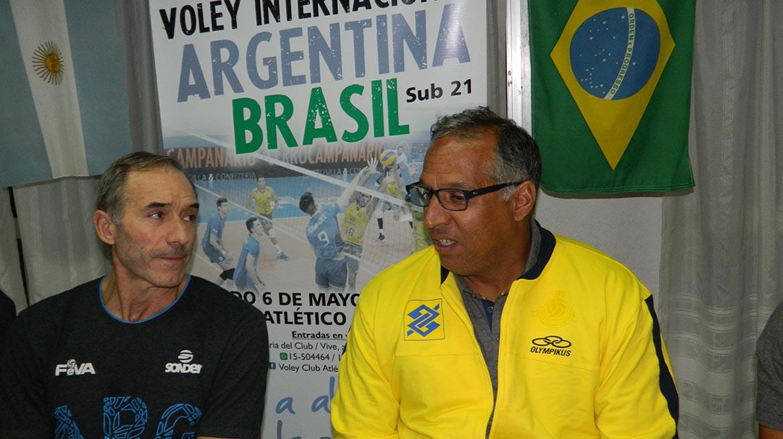 Estan las selecciones de Argentina - Brasil