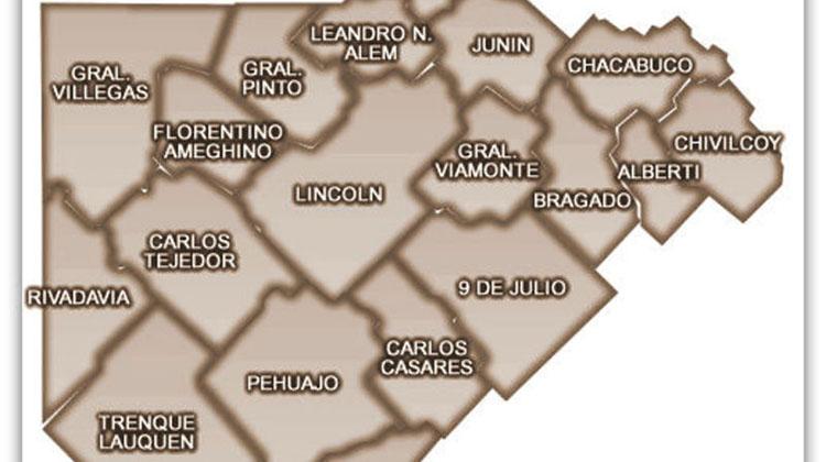 El mapa político de los intendentes de la Cuarta Sección Electoral