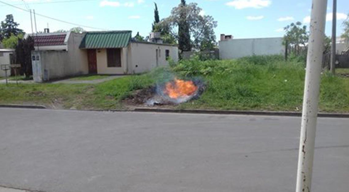Incendio por pérdida de gas