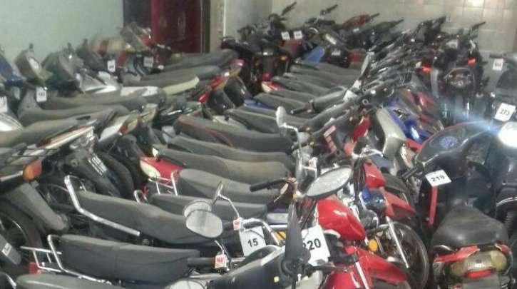 Secuestraron 163 motovehículos