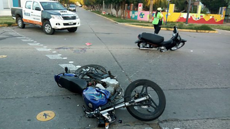 Fatal accidente por choque de motos