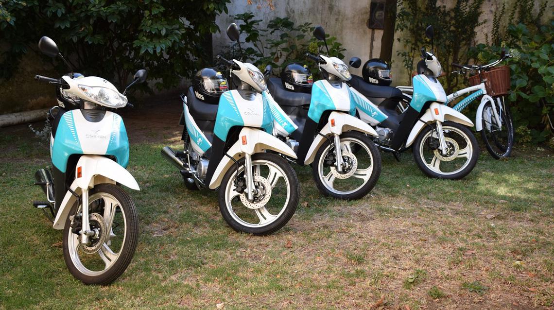 Motos y bicicletas para inspectores