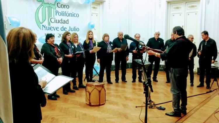 El coro Polifónico de festejo