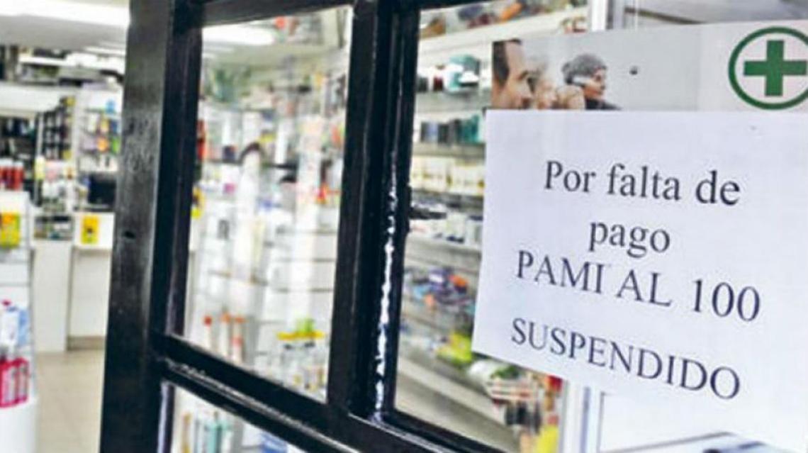 Farmacias suspenden servicios de PAMI