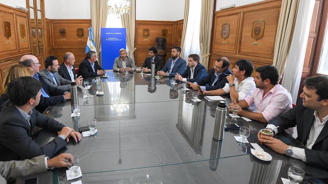 Barroso se reunió con el ministro Frigerio