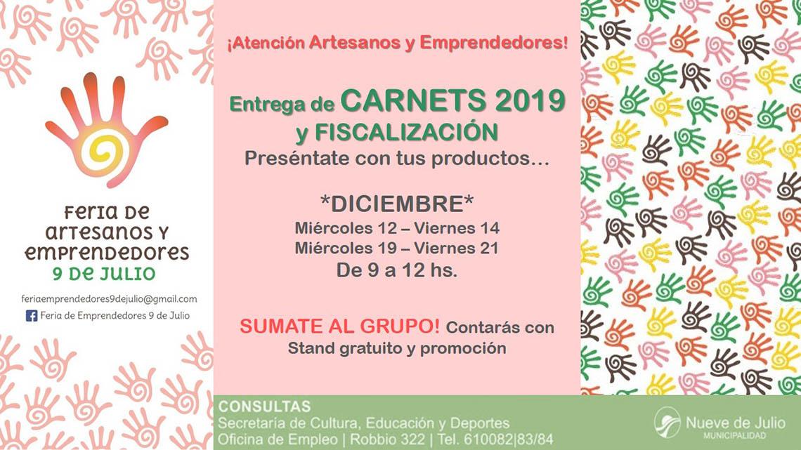 Carnets de artesanos 2019