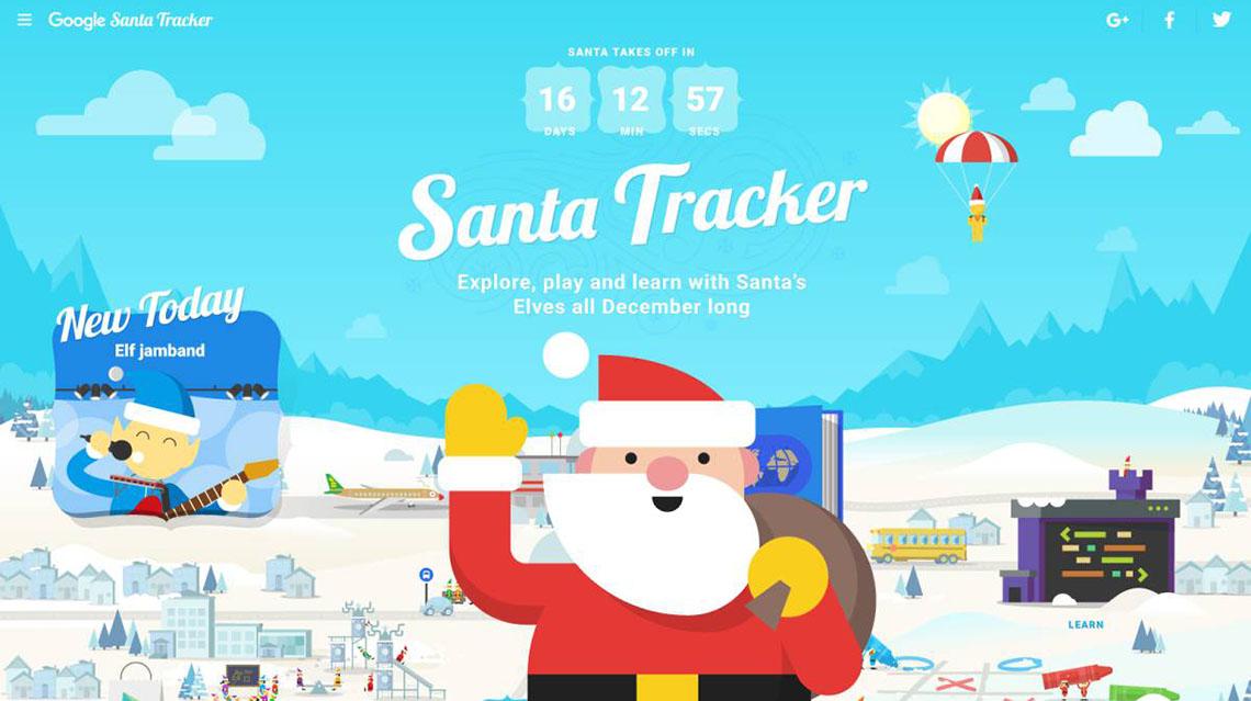 Papá Noel ya empezó su recorrido