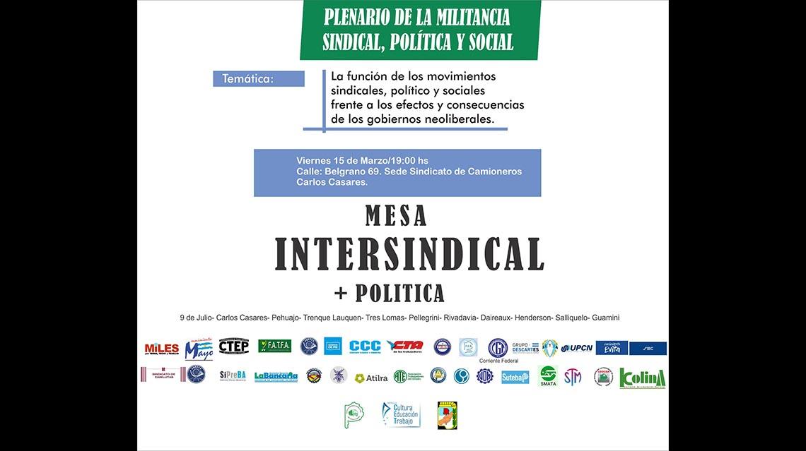Mesa Intersindical politica