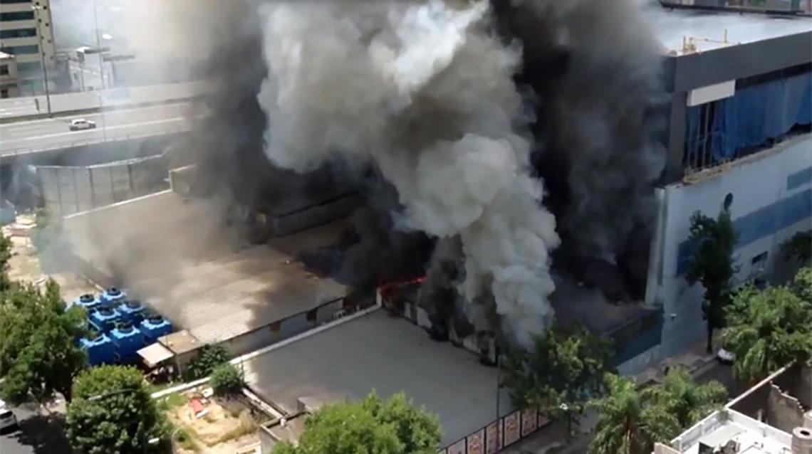 Fuerte incendio en Canal 13 y TN