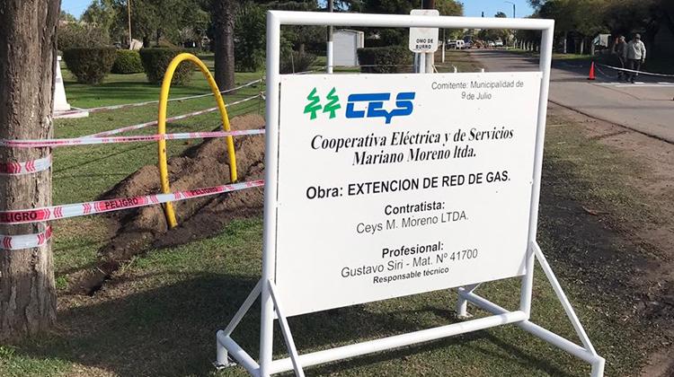 Obras de gas en El Provincial