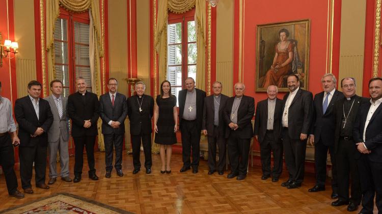 Obispos reunidos con Vidal