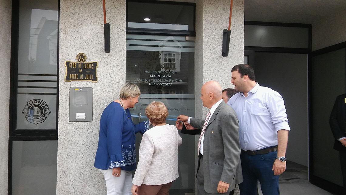 Quedó inaugurada sede del Club de Leones