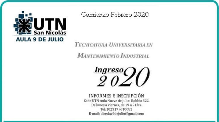 Abren carrera universitaria 2020