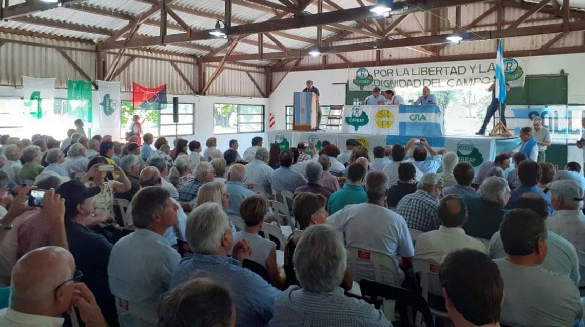Asamblea de productores rurales en Pergamino