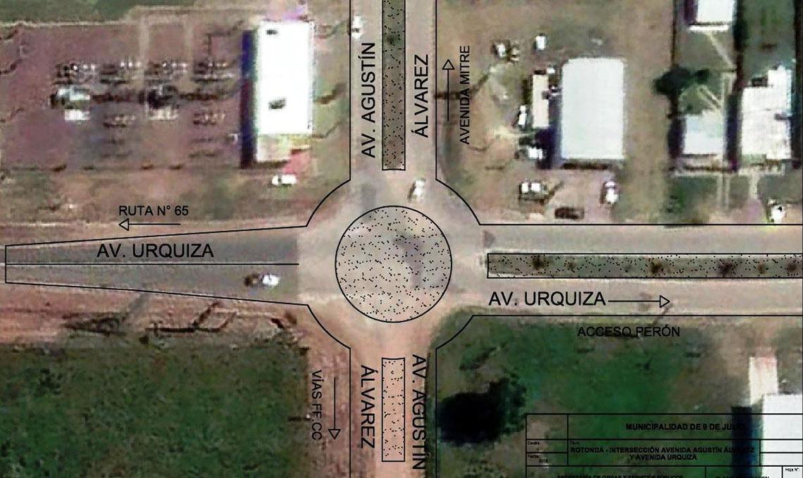 Comienza a diagramarse la rotonda de Agustín Álvarez y Urquiza