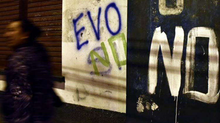 En Bolivia se impuso el NO