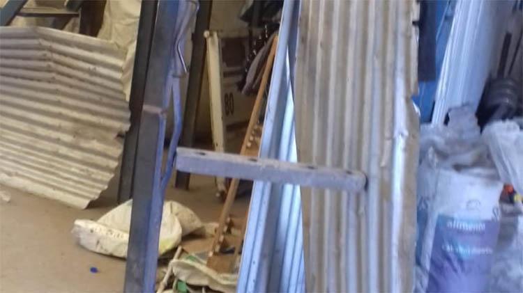 Daños y robo en planta de separación de residuos