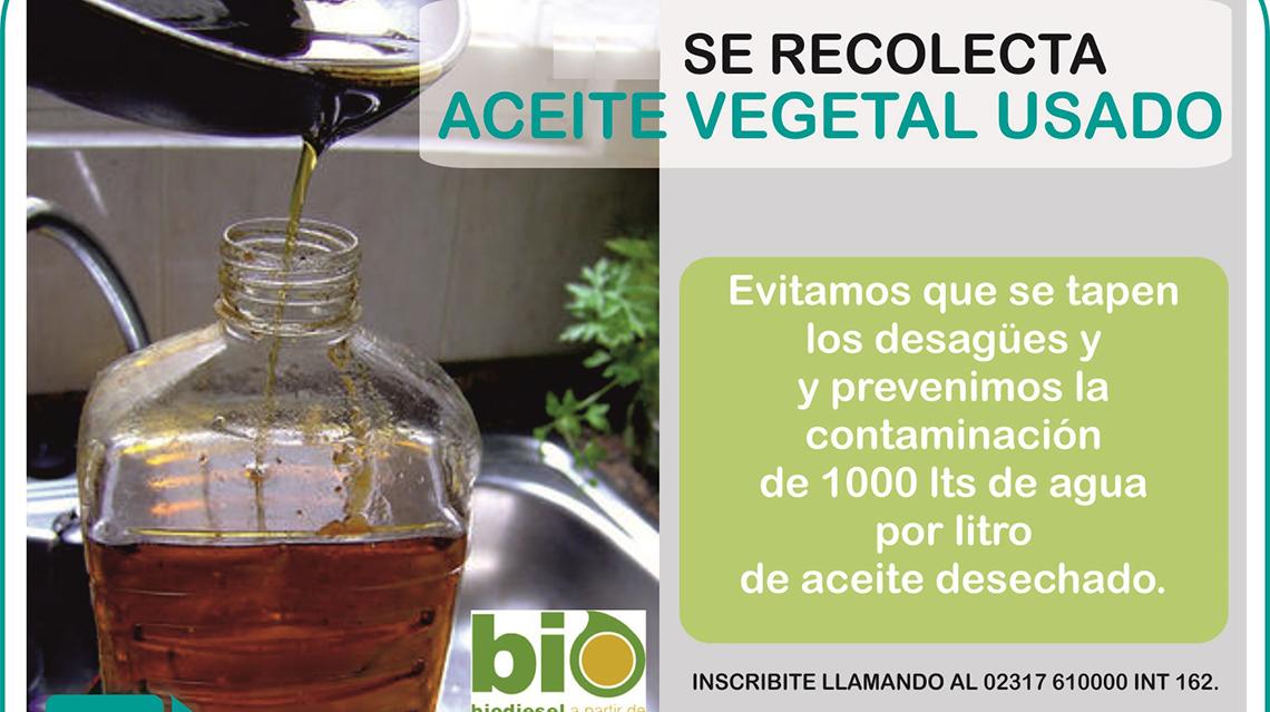 Recolección aceite vegetal usado