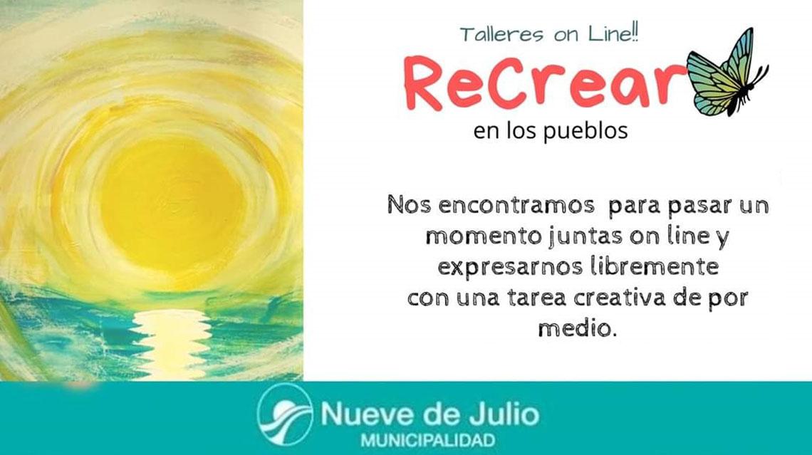"Talleres on line ""Recrear"""
