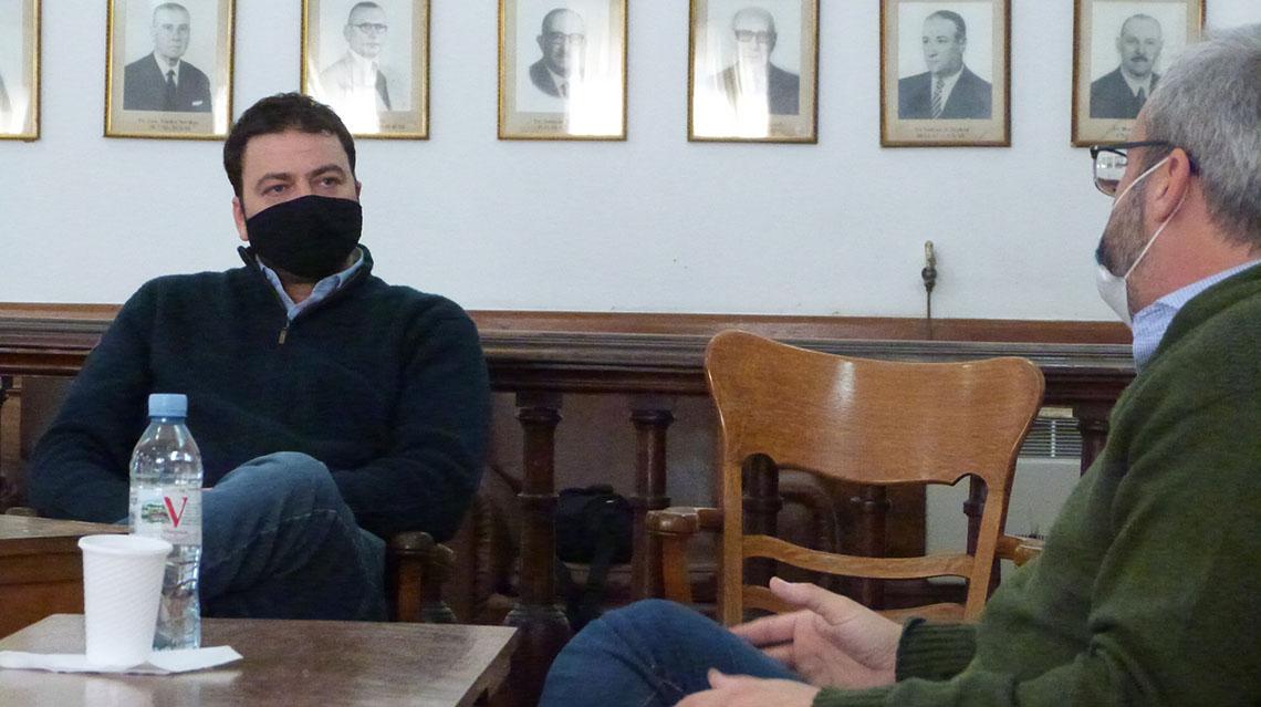Barroso recibió al director provincial de hospitales
