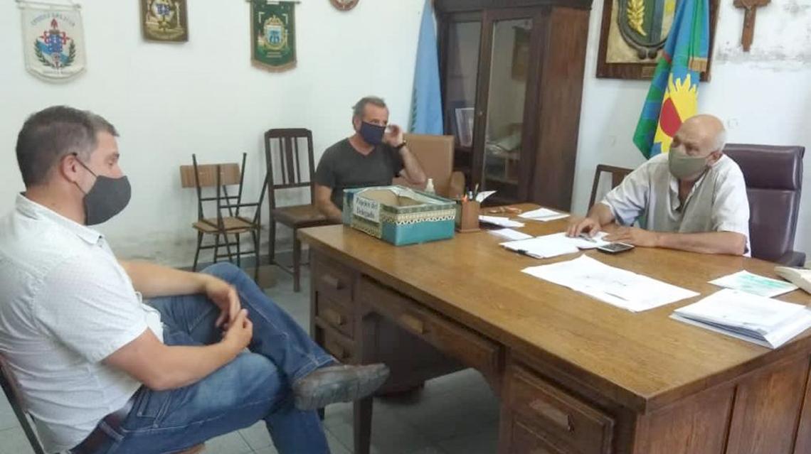 """El concejal """"Chachi"""" Malis visitó Quiroga"""